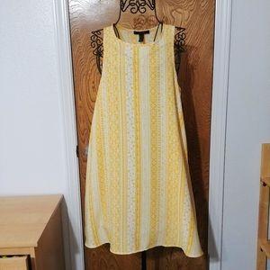 Forever 21 Flowy golden yellow floralboho dress